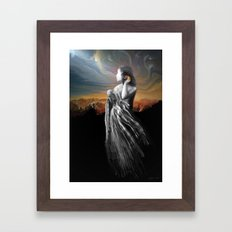 merging with the universe Framed Art Print