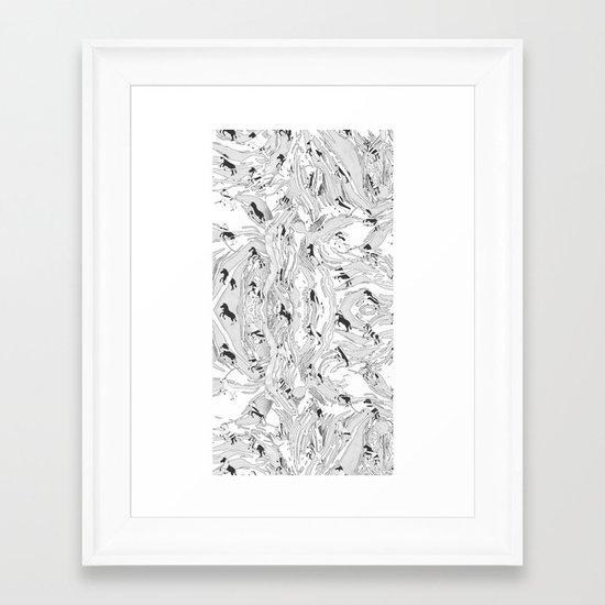 Zebra Cowboys Framed Art Print