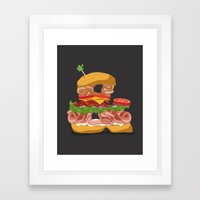 Ampersandwich Framed Art Print