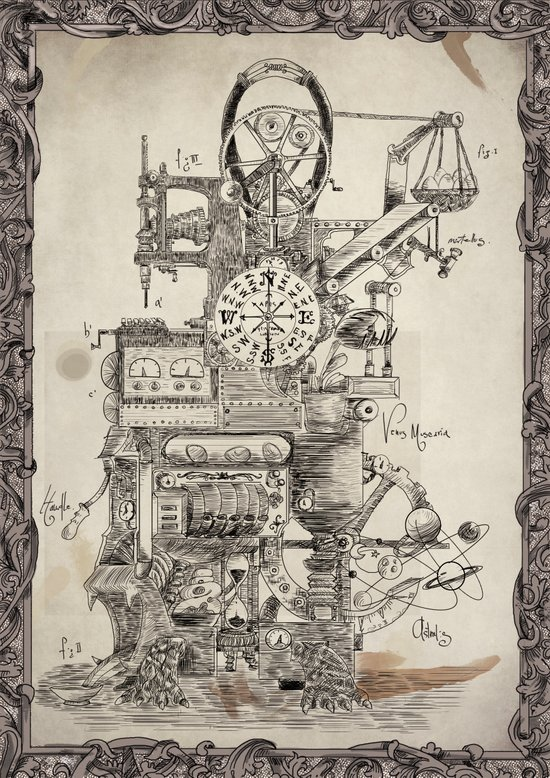 Lord Sargasso's Wondrous oldfangled nugatory contraption Art Print