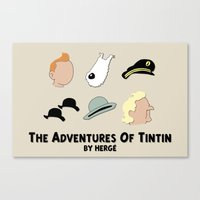 Tintin, Minimalist Canvas Print