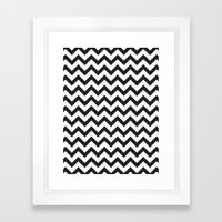 Classic Chevron Framed Art Print