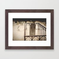 Here Lies Framed Art Print