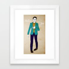 Hello, Retro Joe :) Framed Art Print