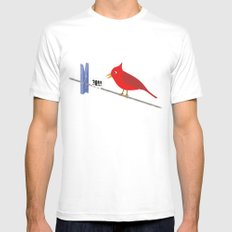 Angry Bird White SMALL Mens Fitted Tee
