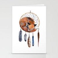 Fox Dreamcatcher Stationery Cards