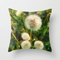 just a happy day  Throw Pillow