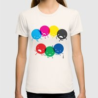 CMYK fights RGB Womens Fitted Tee Natural SMALL