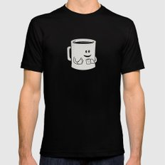 Mugged. Mens Fitted Tee Black SMALL