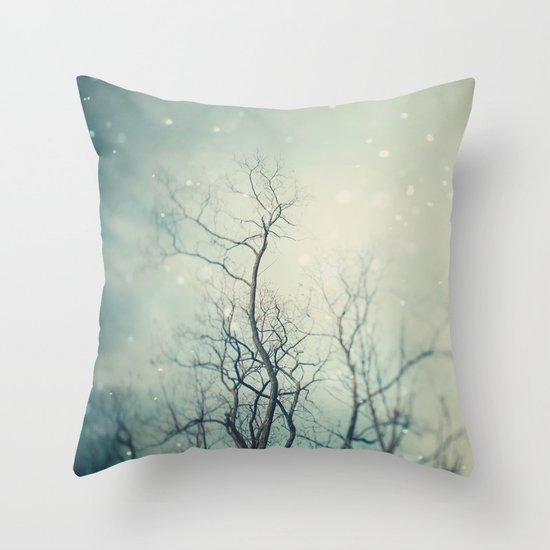 Winter Poem  Throw Pillow