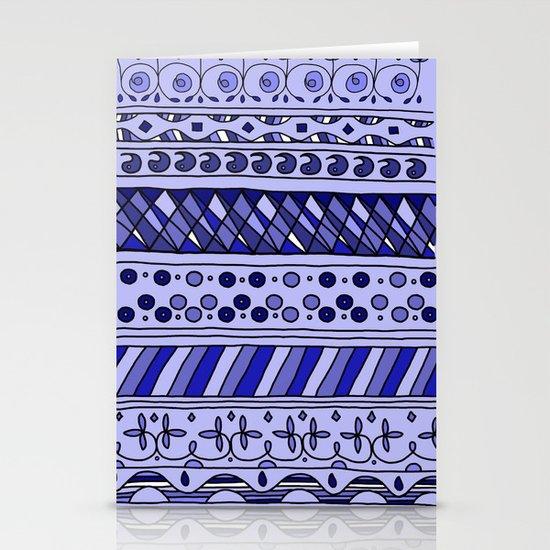 Yzor pattern 002 blue Stationery Card