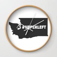 #Upperleft Gray Wall Clock