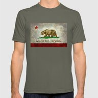 State Flag Of California Mens Fitted Tee Lieutenant SMALL