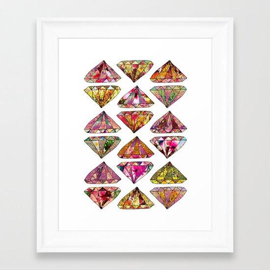 These Diamonds Are Forever Framed Art Print