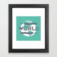 Its A Small World  Framed Art Print