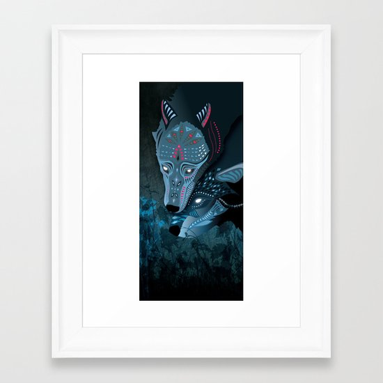 I am neither walker nor sleeper Framed Art Print