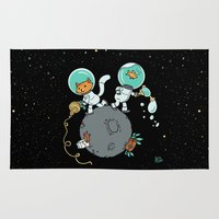 Space Kitty and Captain Fish Rug