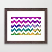 Lucky Chevron Framed Art Print
