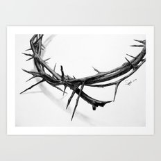 Crown of Thorns (Pencil Drawing) Art Print