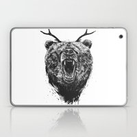 Angry bear with antlers Laptop & iPad Skin