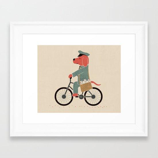 Postdog Framed Art Print