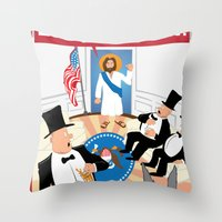 Everybody, Out! Throw Pillow
