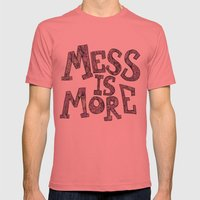 Mess Is More Mens Fitted Tee Pomegranate SMALL