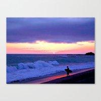 Sunset Skimboarder Canvas Print