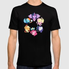 Mane six 2 Mens Fitted Tee Black SMALL