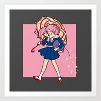 Salty Magical Girl Art Print