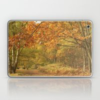 Autumn Woodland Walk Laptop & iPad Skin