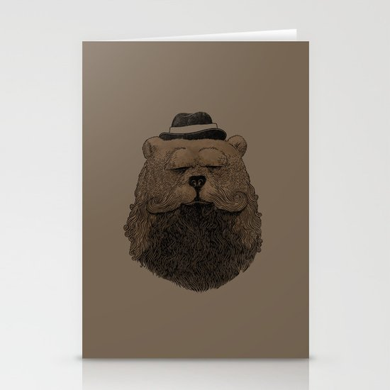 Grizzly Beard Stationery Card