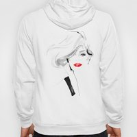 Woman With Red Lips Hoody