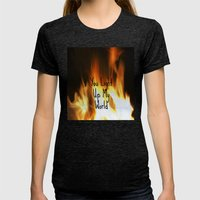 You Light Up My World Womens Fitted Tee Tri-Black SMALL