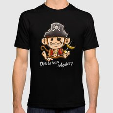 Dangerous Monkey! Mens Fitted Tee Black SMALL