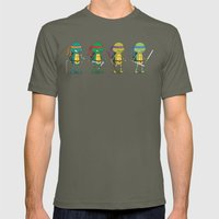 Teenage Mutant Ninja Turtles Mens Fitted Tee Lieutenant SMALL