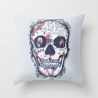 Scars Throw Pillow