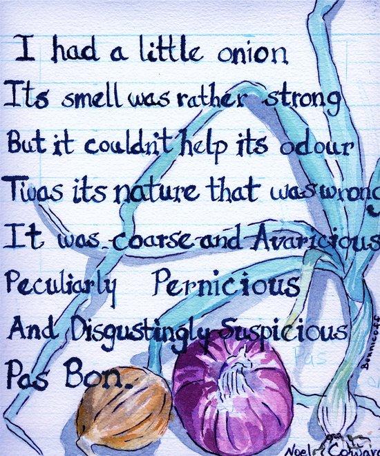 """""""A Little Onion"""" Art Print"""