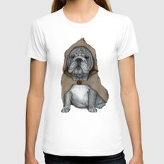 English Bulldog In Stone… Womens Fitted Tee White SMALL