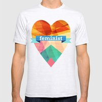Feminist Mens Fitted Tee Ash Grey SMALL