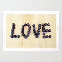 blueberry love Art Print