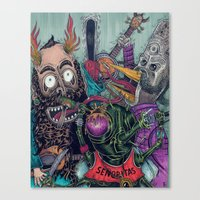Sid Squish and the Death Collectors Canvas Print