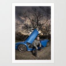 Bam Margera - Eerie tree, Blue ride Art Print