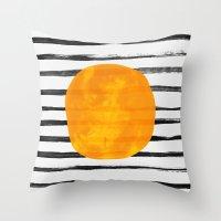 Dot / Yellow Throw Pillow