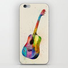 Acoustic Guitar Abstract Watercolor iPhone & iPod Skin
