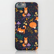 Foxes In Magic Forest iPhone 6 Slim Case
