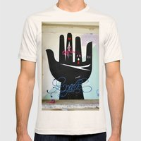Hand Mens Fitted Tee Natural SMALL