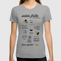 Salvia Fritta Womens Fitted Tee Athletic Grey SMALL