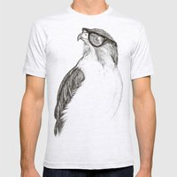 Hawk With Poor Eyesight Mens Fitted Tee Ash Grey SMALL
