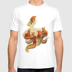 aesop's fable - the fox and his tail Mens Fitted Tee SMALL White